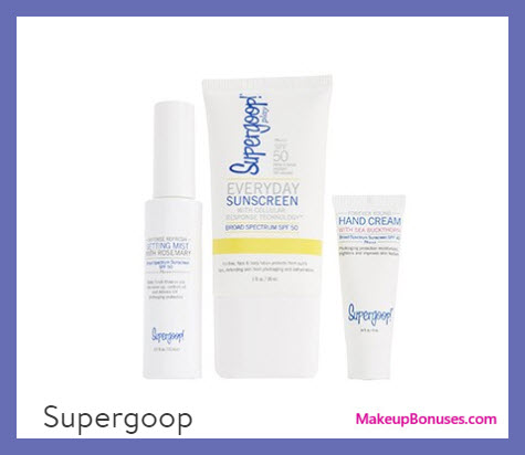 Receive a free 3-pc gift with your $75 Supergoop purchase