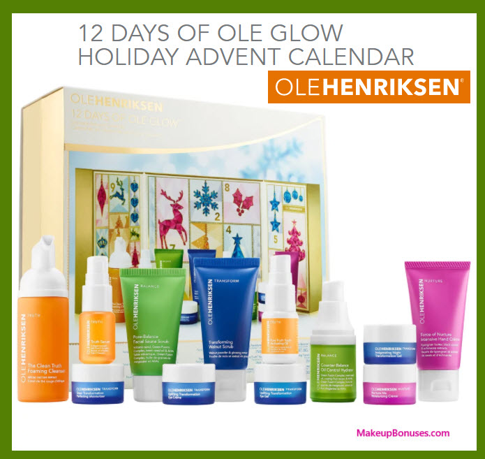 12 DAYS OF OLE GLOW HOLIDAY ADVENT CALENDAR- MakeupBonuses.com