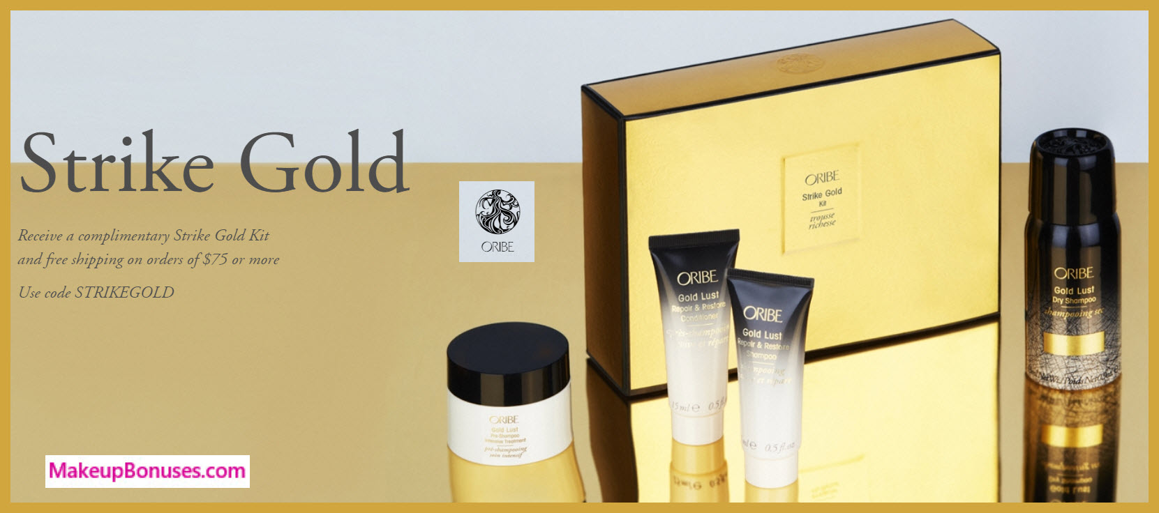 Receive a free 4-pc gift with your $75 Oribe purchase