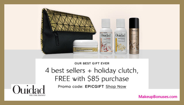 Receive a free 5-pc gift with your $85 Ouidad purchase