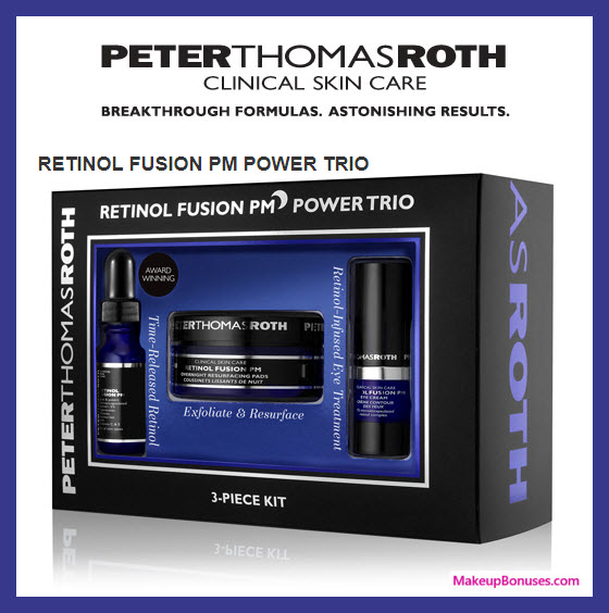 RETINOL FUSION PM POWER TRIO - MakeupBonuses.com