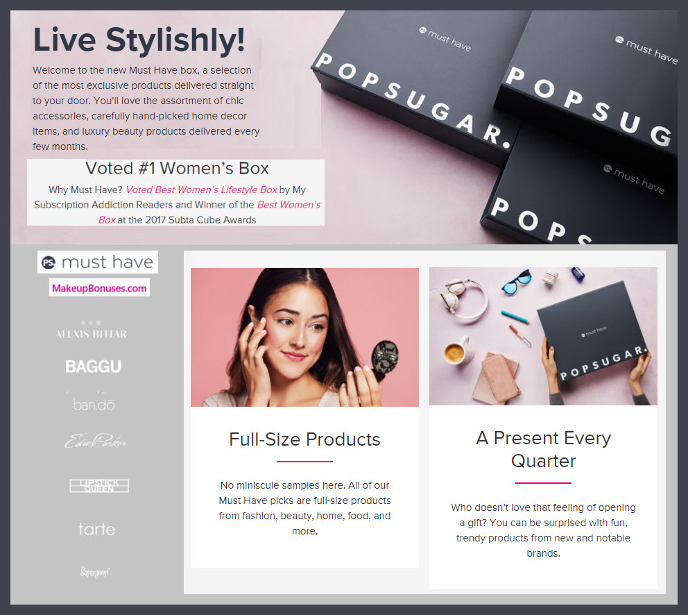 PopSugar Must Have Quarterly 2018 - MakeupBonuses.com