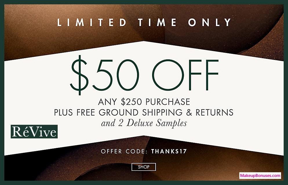 RéVive Sale - MakeupBonuses.com