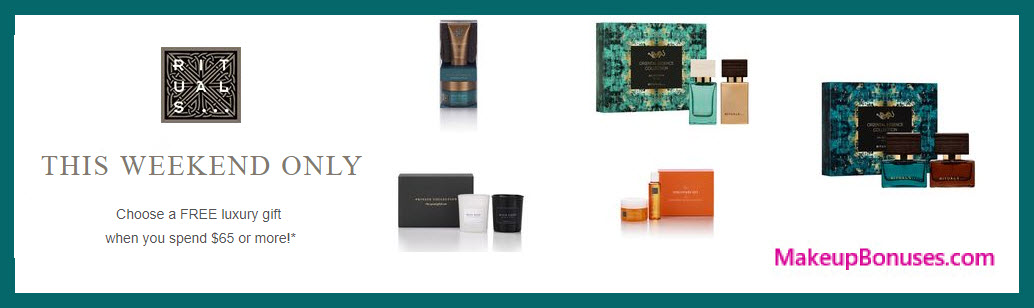 Receive your choice of 3-pc gift with your $65 Rituals purchase