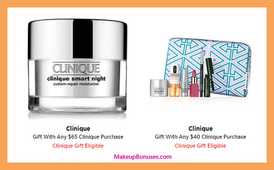 Receive a free 7-pc gift with your $40 Clinique purchase