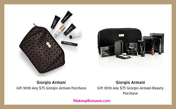 Receive a free 11-pc gift with your $75 Giorgio Armani purchase