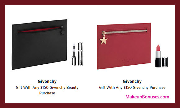 Receive a free 4-pc gift with your $150 Givenchy purchase