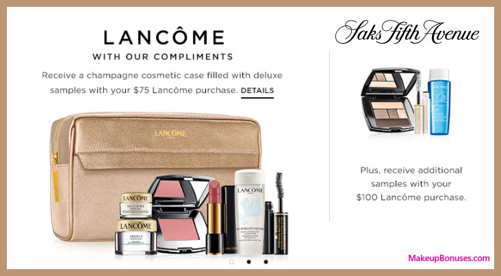 Receive a free 10-pc gift with your $100 Lancôme purchase