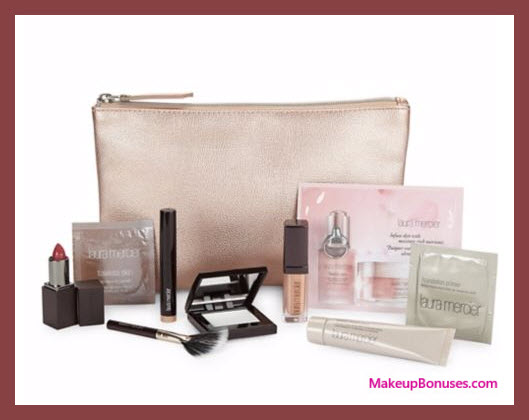 Receive a free 12-pc gift with your $200 Laura Mercier purchase