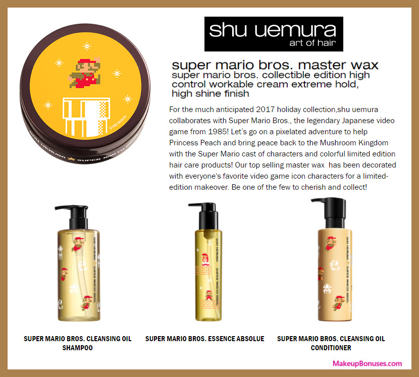 super mario bros. master wax - MakeupBonuses.com