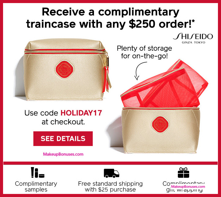 Receive a free 3-pc gift with your $250 Shiseido purchase