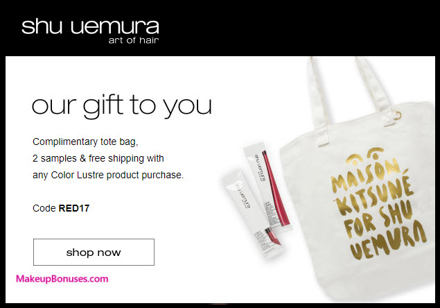 Receive a free 3-pc gift with your Color Lustre purchase