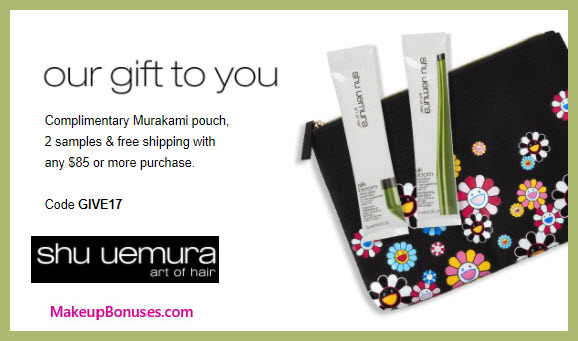 Receive a free 3-pc gift with your $85 Shu Uemura Art of Hair purchase