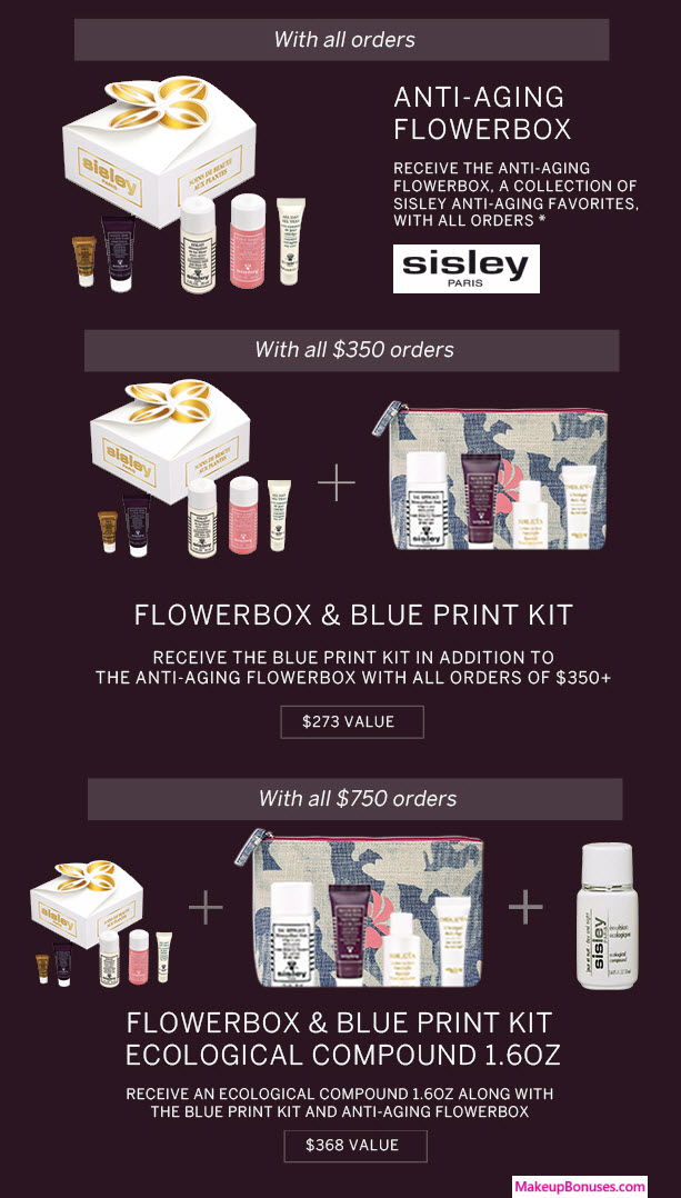 Receive a free 10-pc gift with your $750 Sisley Paris purchase