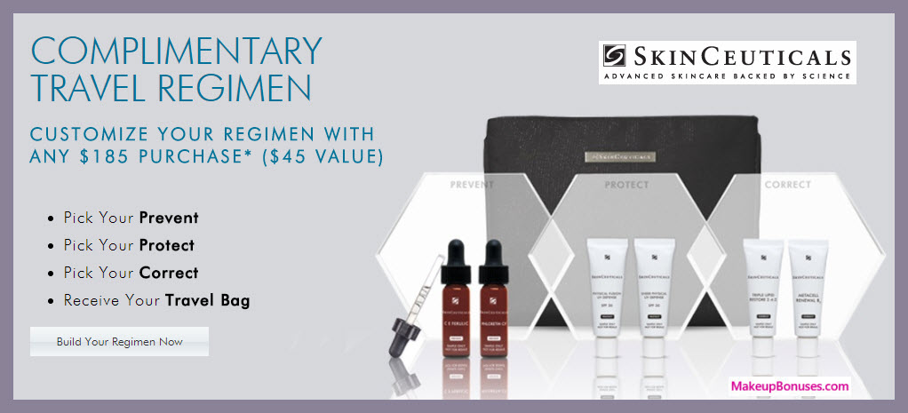 Receive a free 4-pc gift with your $185 SkinCeuticals purchase