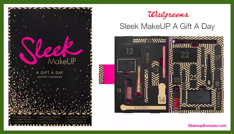 Sleek MakeUP A Gift A Day- MakeupBonuses.com