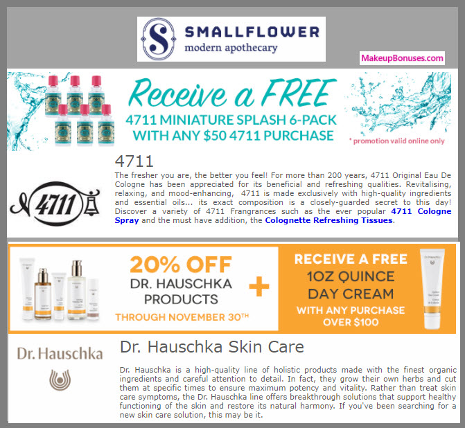 Receive a free 6-pc gift with your $50 4711 purchase