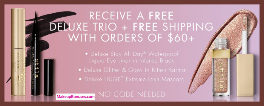 Receive a free 3-pc gift with your $60 Stila purchase