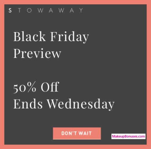 Stowaway Cosmetics Sale - MakeupBonuses.com