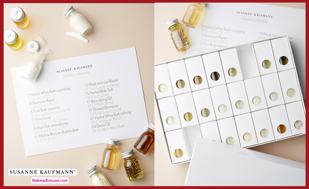 Susanne Kaufmann Advent Calendar- MakeupBonuses.com