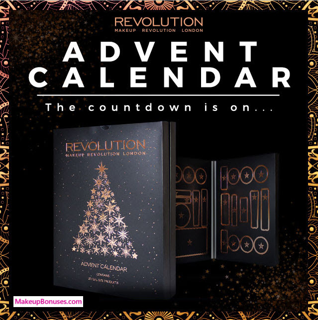 Makeup Revolution Advent Calendar 2017- MakeupBonuses.com