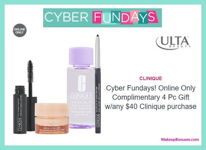 Receive a free 4-pc gift with your $40 Clinique purchase
