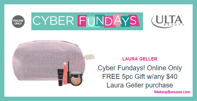 Receive a free 4-pc gift with your $40 Laura Geller purchase