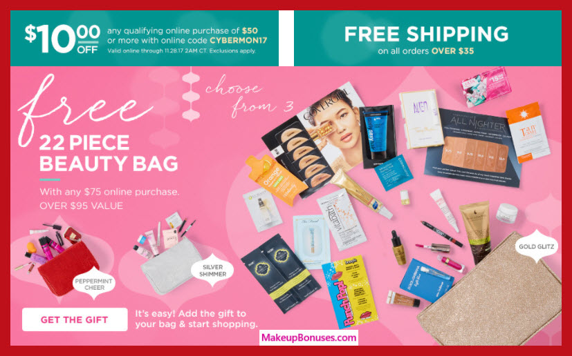 Receive your choice of 22-pc gift with your $75 Multi-Brand purchase