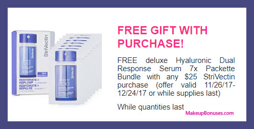 Receive a free 7-pc gift with your $25 StriVectin purchase