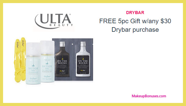 Receive a free 5-pc gift with your $50 drybar purchase