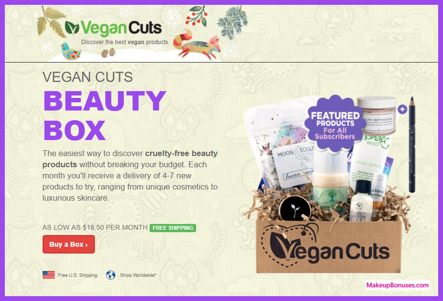 Vegan Cuts Beauty Box - MakeupBonuses.com