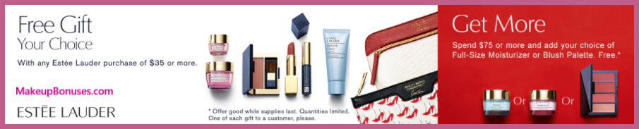 Receive your choice of 7-pc gift with your $35 Estée Lauder purchase