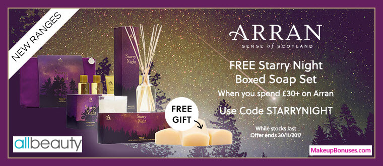 Receive a free 3-pc gift with your ~$40 (30 GBP) purchase