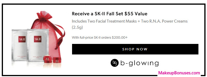 Receive a free 4-pc gift with your $200 SK-II purchase