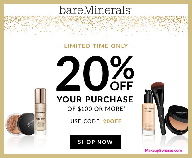 The Do This, Get That Guide On BareMinerals Coupons. Shopping with coupons is among the very best strategies to save cash. You can even acquire free coupons within the mail. There are various on-line coupon sites also activate to offer updated coupons and promotions. Get the newest bareMinerals Promotions and Specials to be used on.