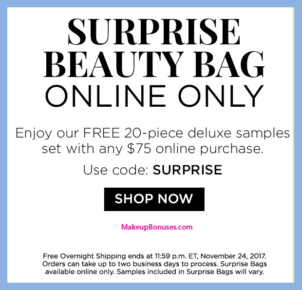 Receive a free 20-pc gift with your $75 Multi-Brand purchase