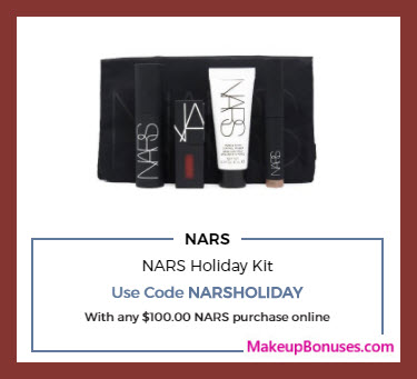 Receive a free 4-pc gift with your $100 NARS purchase