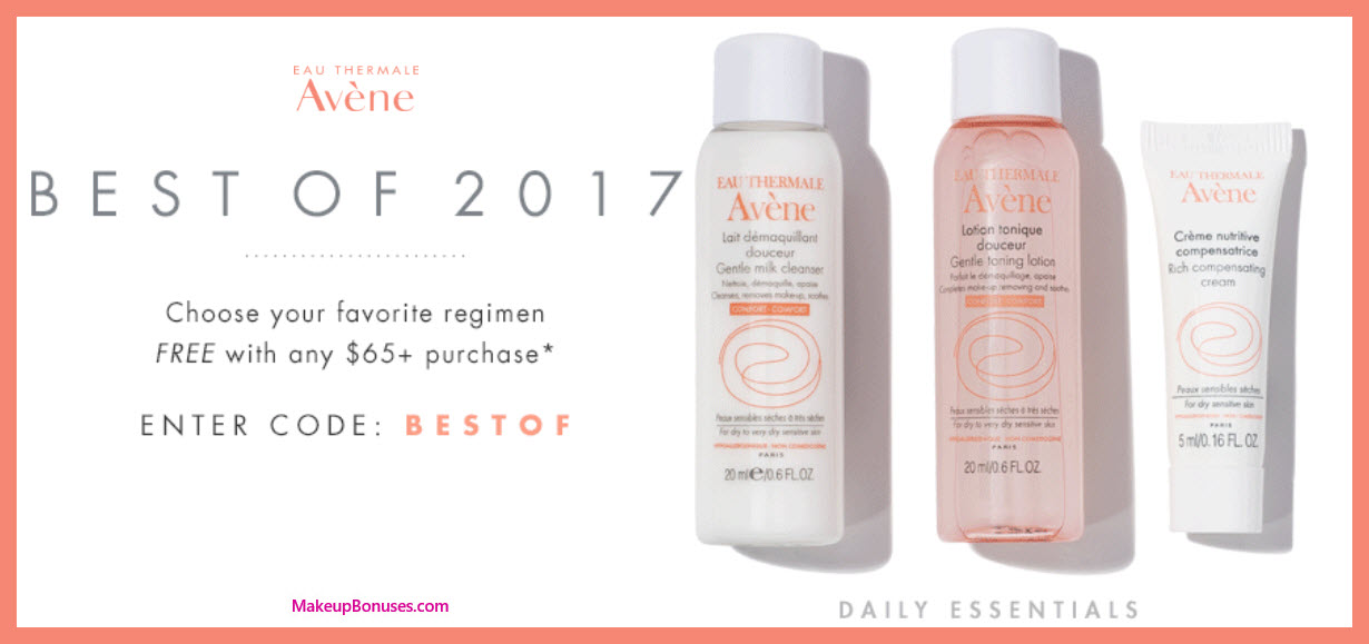 Receive your choice of 3-pc gift with your $65 Avène purchase