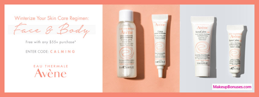 Receive a free 4-pc gift with your $55 Avène purchase