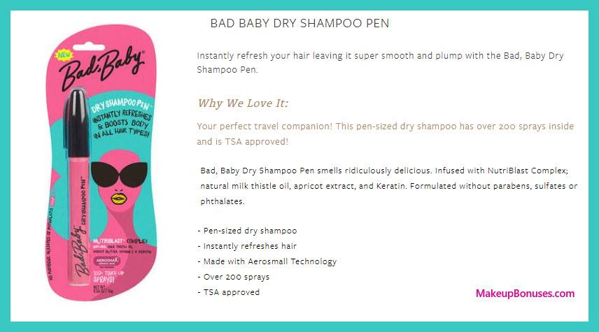 Bad, Baby Dry Shampoo Pen - MakeupBonuses.com