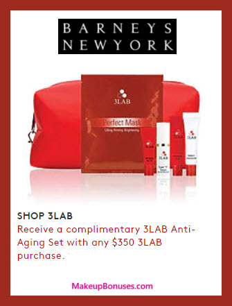 Receive a free 6-pc gift with your $350 3LAB purchase