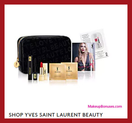 Receive a free 7-pc gift with your $150 Yves Saint Laurent purchase