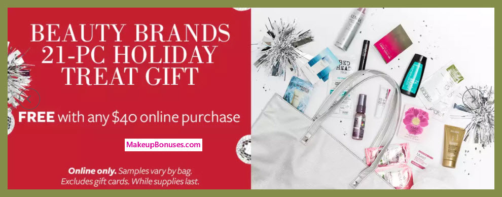 Receive a free 21-pc gift with your $40 Multi-Brand purchase
