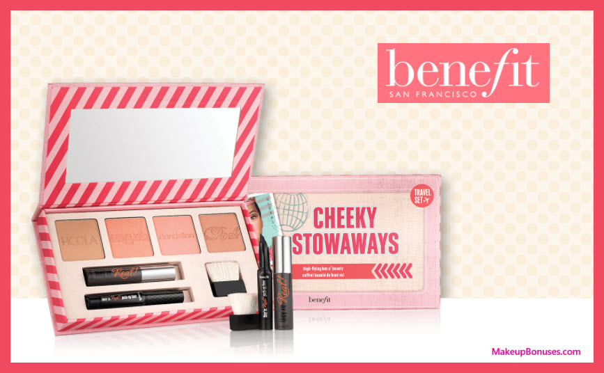 Receive a free 7-pc gift with your $75 Benefit Cosmetics purchase