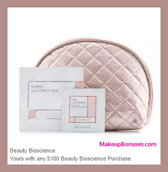 Receive a free 3-pc gift with your $100 Beauty Bioscience purchase