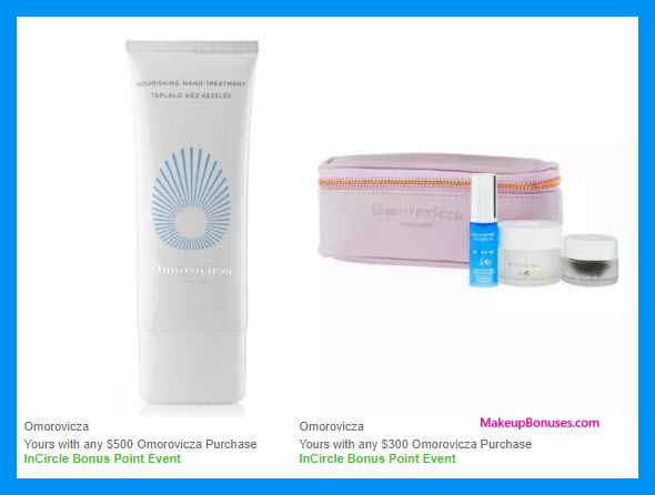 Receive a free 4-pc gift with your $300 Omorovicza purchase