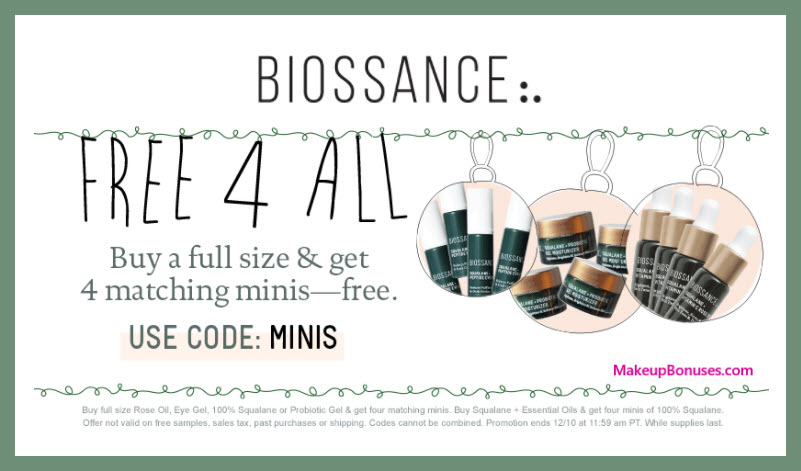 Receive a free 4-pc gift with your 100% Squalane Gel purchase
