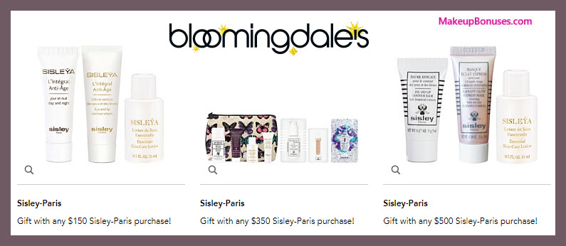 Receive a free 3-pc gift with your $150 Sisley Paris purchase