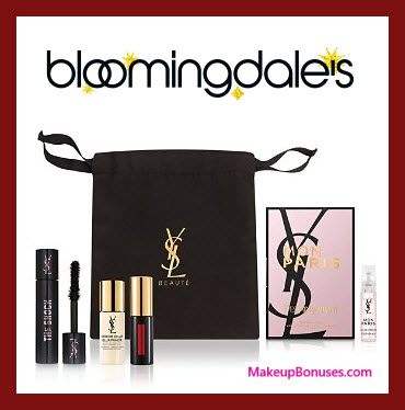 Receive a free 5-pc gift with your $175 Yves Saint Laurent purchase