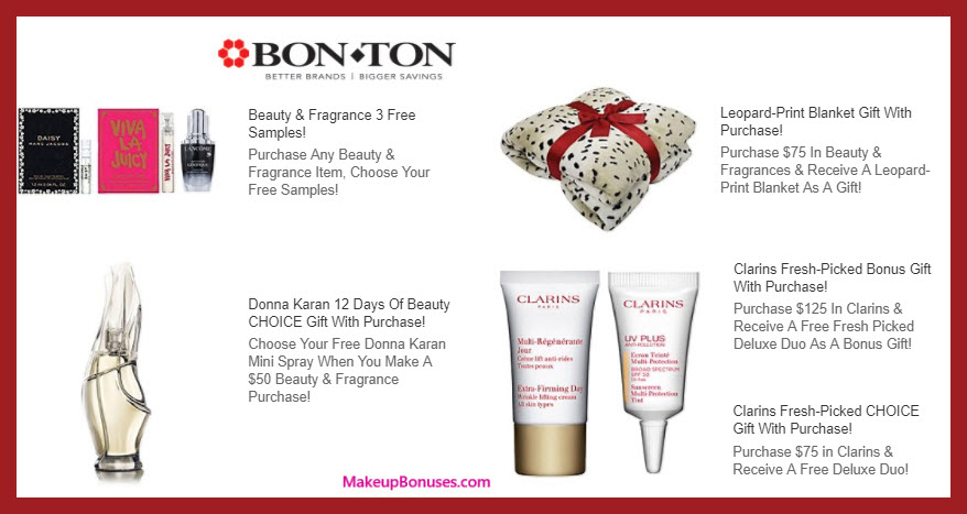 Receive a free 4-pc gift with your $125 Clarins purchase